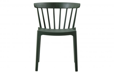WOOOD Bliss bars chair plastic army green 2 stk