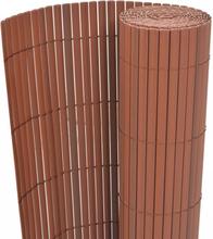 vidaXL Dubbelsidigt insynsskydd PVC 90x300 cm brun