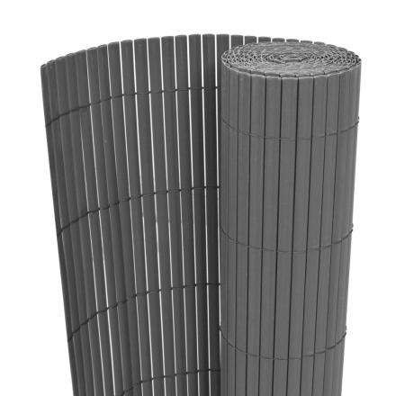 vidaXL Dubbelsidigt insynsskydd 90x500 cm grå