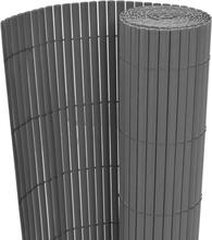 vidaXL Dubbelsidigt insynsskydd PVC 90x300 cm grå