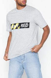 Whyred Foxton Whyred Logo Black/Yellow T-shirts & undertrøjer Light Grey Melange