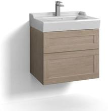 Svedbergs Stil Møbelpakke 60 x 45 cm m/skuffer & vask, Lys eik