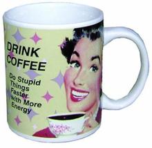 Drink Coffee retromugg i keramik