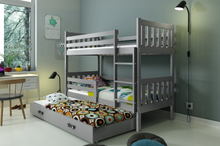 Køyeseng Carino for 3 inkludert 3 madrasser