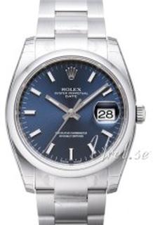 Rolex 115200-0007 Perpetual Date Blå/Stål Ø34 mm