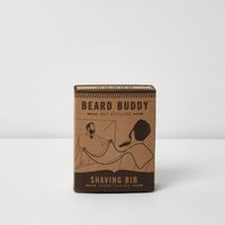 River Island Mens Black beard buddy shaving bib