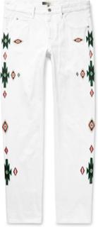Jasper Embroidered Denim Jeans - White