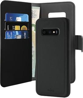 Puro 2-i-1 Samsung Galaxy S10 Magnetisk Pung Taske - Sort