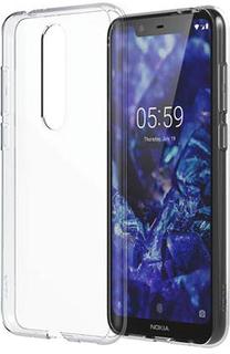 Nokia 5.1 Plus Slim Crystal Cover CC-151 - Gennemsigtig