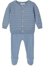 NAME IT Strickjacke Und Hose Geschenk-set Unisex Blau