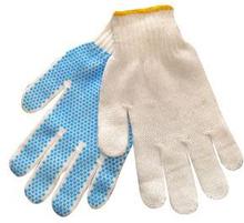 Strikkehandske m/prikker, Polyester, pakke med 12 stk, str. 9