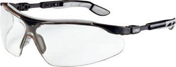 Sikkerhetsbrille Uvex I-Vo, sort/grå med klar linse