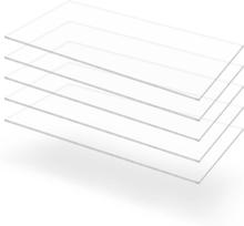 vidaXL Plexiglasskivor 5 st 60x120 cm 2 mm