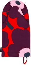 Marimekko - Pieni Unikko Oven Mitten, Red/Violet/Pink