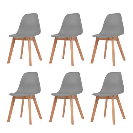 vidaXL spisebordsstole 6 stk. grå