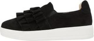 BIANCO Flæse Ruskinds Sneakers Kvinder Sort