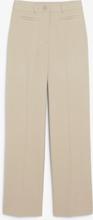Dressy wide leg trousers - Beige