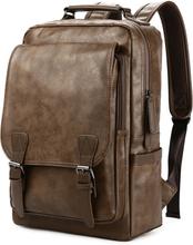 New Luxury School Backpack Waterproof Leather Backpack For Laptop Men Travel Teenage Student Backpack Bag Male Bagpack Mochila