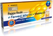 Arkopharma Arko Koniglichen + Royal Jelly + Vitamin D Milch Enzyme fur Erwachsene 7 Vials