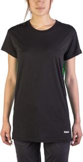 Miu Miu kvinder bomuld silke blanding blomstret T-Shirt sort