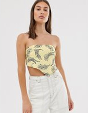Obey scarf crop top in leopard print - Multi