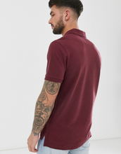 Abercrombie & Fitch icon logo pique polo in burgundy-Red