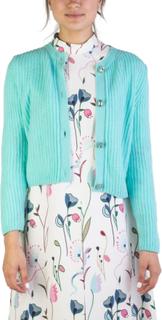 Miu Miu kvinders Cashmere juvel knappet Cardigan Aqua