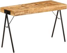 vidaXL skrivebord i massivt mangotræ 118 x 50 x 75 cm
