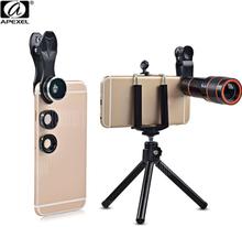 APEXEL APL - HS12XDG3ZJ 5 in 1 External Phone Camera Lens Suit