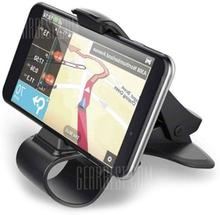 Universal Car Phone Holder Stand Adjustable Alligator Clip Vehicle-mounted Mobile Scaffold Holder Cradle Mount Bracket