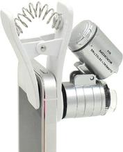 1Pcs Universal Clip Mobile Phone Microscope Magnifier Micro Lens 60X Optical Zoom Telescope Camera Lens