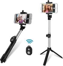 gocomma 3 in 1 Handheld Extendable Bluetooth Selfie Stick Tripod Monopod Remote Control