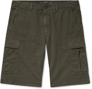 Stretch-cotton Ripstop Cargo Shorts - Army green