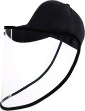 Keps med ansiktsskydd / Skyddsvisir Svart