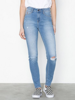 Lee Jeans Scarlett High Blue Slashed