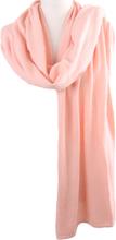 Kasjmier-blend sjaal/omslagdoek in zalmroze