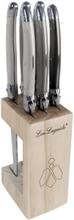 Lou Laguide Grillknivar med knivblock 7 st flerfärgad
