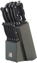 Richardson Sheffield Köksknivar med knivblock 16 delar Artisan