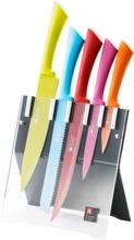Richardson Sheffield Köksknivar med block 5 delar Love Colour Original