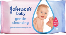 Johnson's Gentle Cleansing Baby Wipes 56 stk