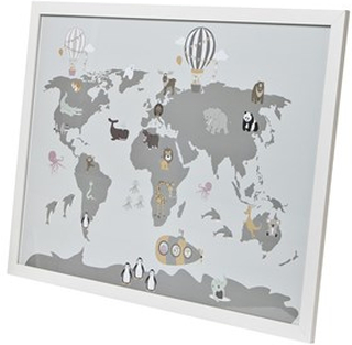 FORM Living Poster w Frame Map Animals