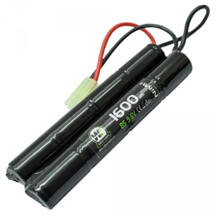 Batteri NiMH 9.6V 1600mAh - Cranestock/Nunchuck - Liten Plugg