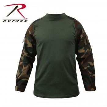 Combat Shirt Woodland Camo