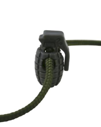 Cord Stoppers Granat - Grå - 8stk