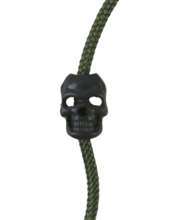 Cord Stoppers Skull - Svart - 8stk