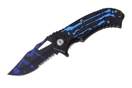 Fantasy Zombie Style Foldekniv - Blue