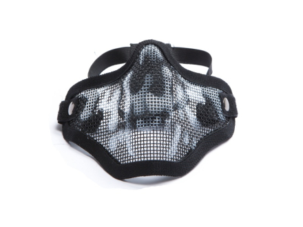 Mesh Maske med Gitter - Skull