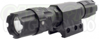 NcStar Lommelykt 250 Lumen - High/Low/Strobe - 21mm Montasje