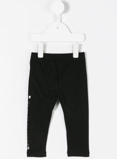 Moschino Kids logo print leggings - Black