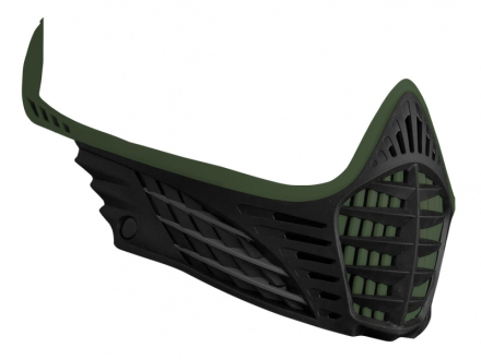 Virtue VIO Facemask - Olive/Charcoal/Black
